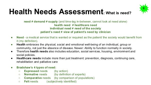 Needs Assessment Example Example Needs And Capacity Assessment Of