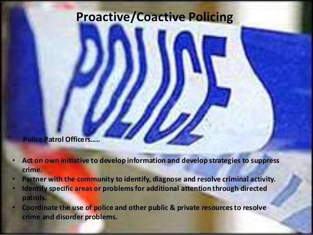 Coactive policing