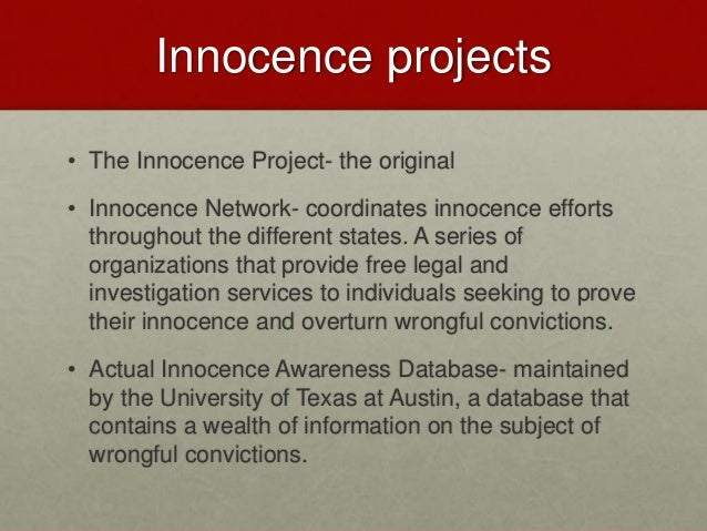 Wrongful Convictions Essay
