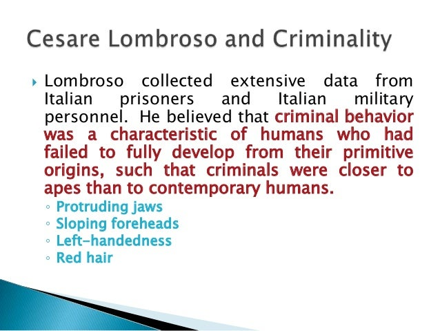 Cesare Lombroso: an anthropologist between evolution and ...