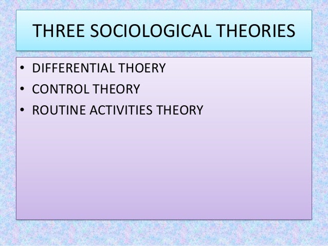 control theory corporate crime Theories of organized criminal behavior  theories of crime  mafia or cosa nostra families are thought to control well-defined geographic.