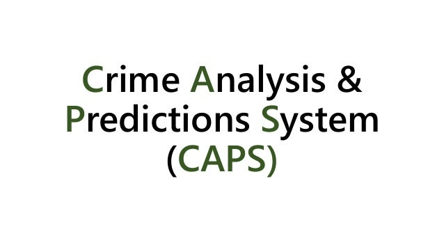 predicting crime with the unifrom crime Free research that covers part 1: learning the fbi's uniform crime reporting system  the uniform crime reporting can help public safety officials predict crime and.