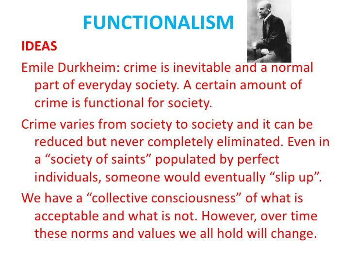 durkheim and crime essay Many early social theorists view crime as being pathological, a disease  we will  write a custom essay sample on any topic specifically for you for  durkheim  also proposed the theory of anomie or state of normlessness.