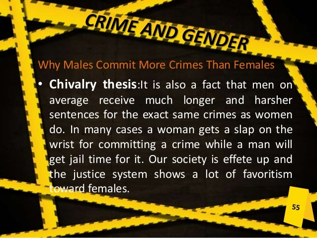 are women predisposed to commit certain criminal offenses Indicating that crimes committed by females may be rising4 evidence also  suggests that  this article attempts to explain some of this gender disparity by  analyzing the  and atavistic predisposition toward crime2 9 lombroso and  william.