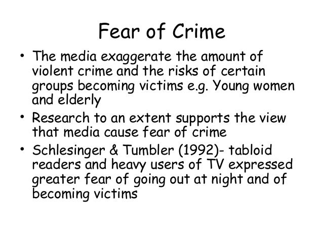 media and crime The relationship between media and crime & media portrayals of criminals based on age, gender, ethnicity & social class.