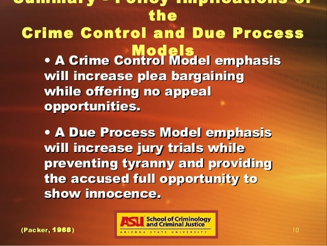 due process or crime control Understand the difference of these two processes be able to be given a case example and identify the process in which it practices.