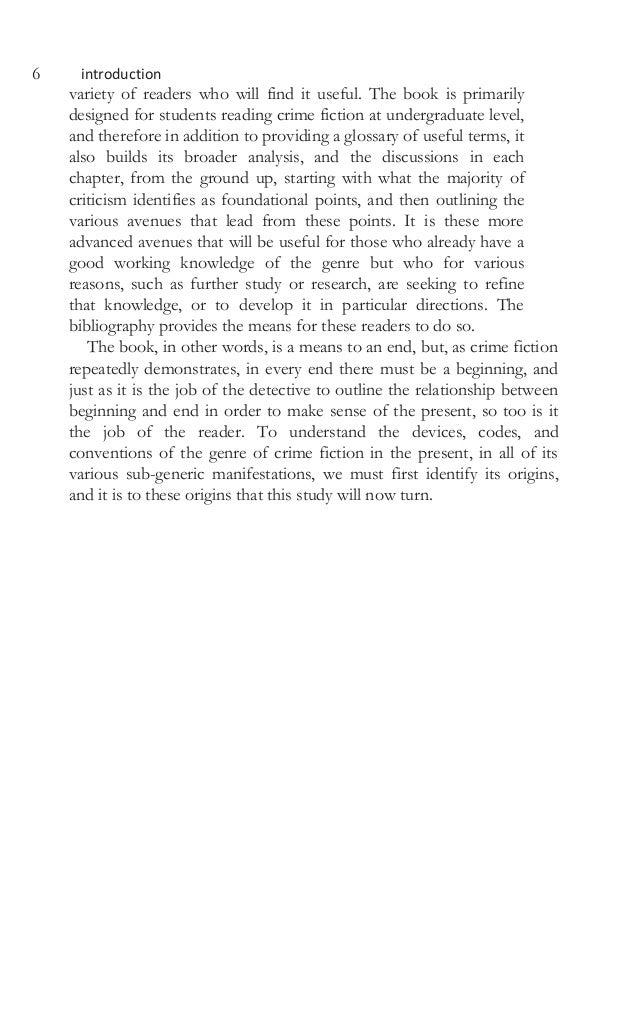 Crime fiction theory