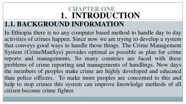 Crime Management System final year project