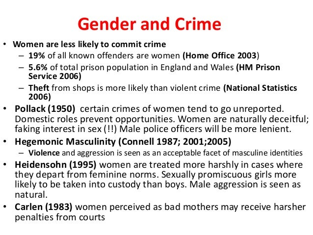 WHY WOMEN COMMIT CRIME