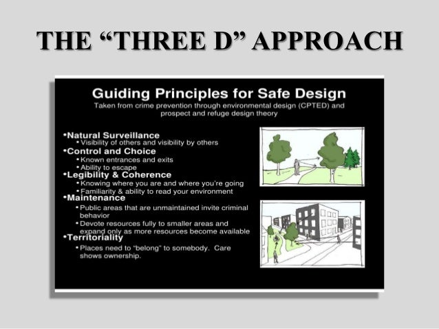 cpted principles essay Cpted (crime prevention through environmental design) architectural design concepts include natural access control, natural surveillance, territorial reinforcement.