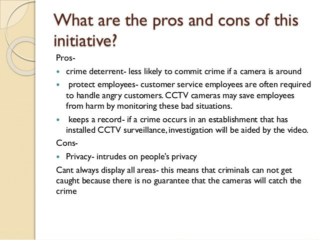 The Pros and Cons of CCTV System