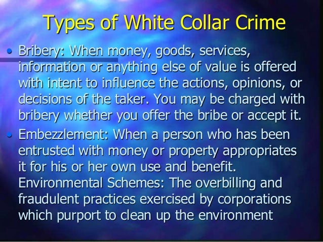 insider trading and white collar crime essay Corporate crime  hundreds of  types of white collar crimes  insider trading includes employees of financial institutions, law or banking firms,.