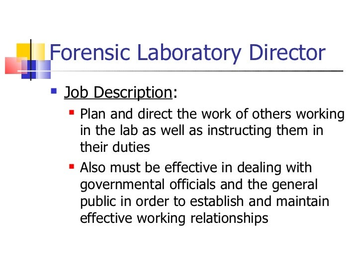 forensic laboratory director drake kelley 10 - Description Of A Crime Scene Investigator