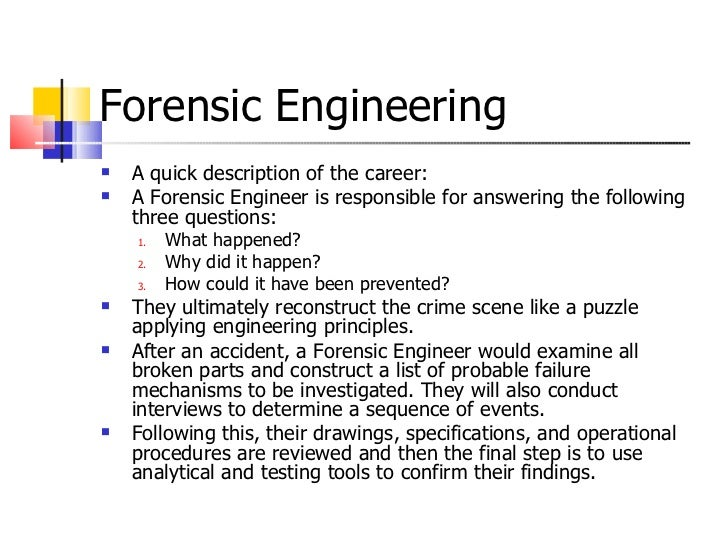 forensic engineering meghann carreiro 31 - Description Of A Crime Scene Investigator