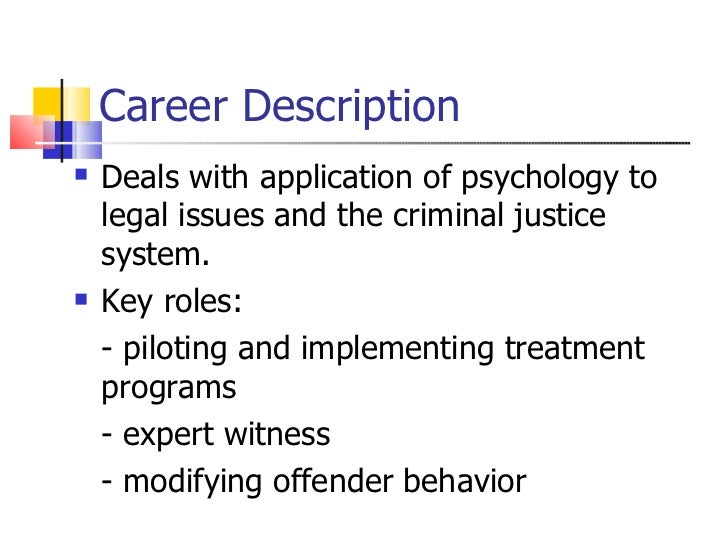 forensic psychology by lucy meliksetian 57 career description - Description Of A Crime Scene Investigator