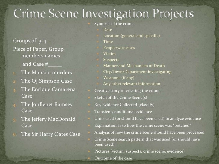crime scenes presentation, Powerpoint templates