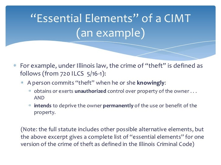 essential elements of crime What are the elements of theft  robbery may be enhanced, be given extra punishment, if a deadly weapon was used to commit the crime theft by deception: .