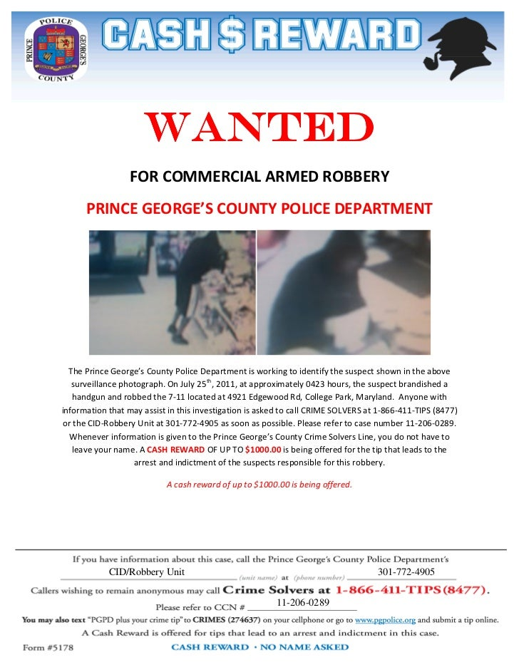 crime solvers reward flyer 2