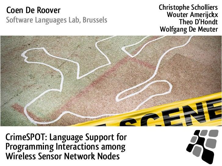 Coen De Roover                     Christophe Scholliers                                     Wouter AmerijckxSoftware Lang...