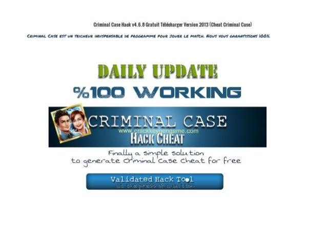 Criminal case facebook cheats - Unlimited energy hack Slide 2