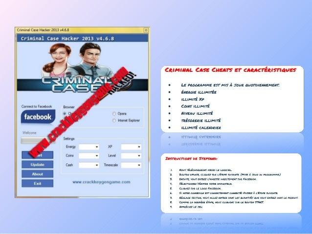 Criminal case facebook cheats - Unlimited energy hack Slide 3