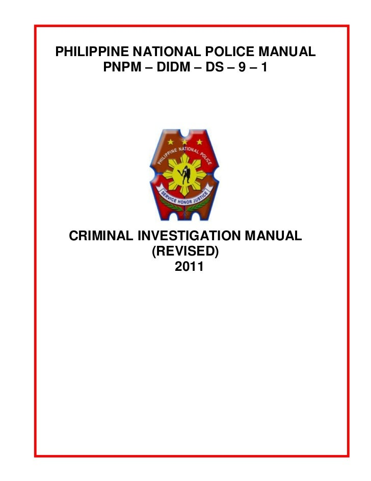 philippine national police criminal investigation manual rh slideshare net