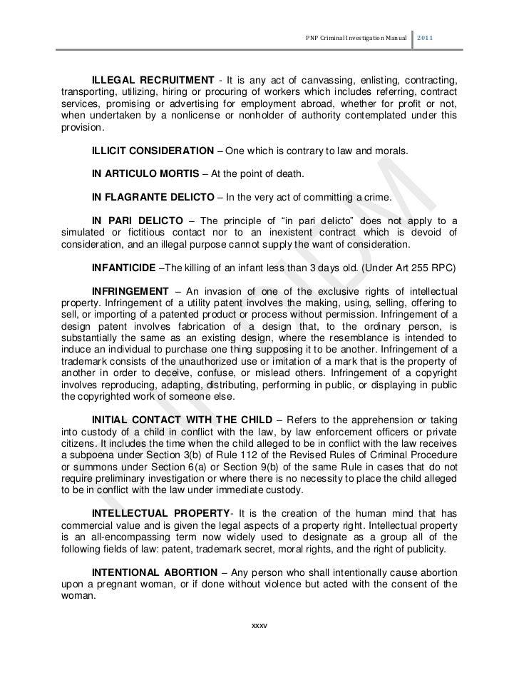 Philippine National Police Criminal Investigation Manual