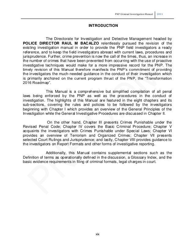 criminal investigation manual rh slideshare net criminal investigation manual pdf criminal investigation training manual pdf