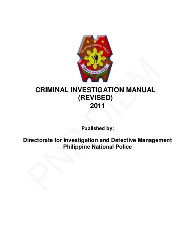 Criminal investigation manual.