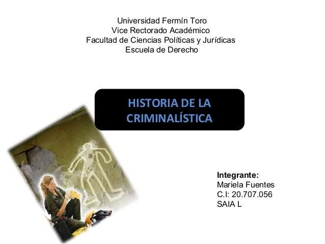 Universidad Fermín Toro  Vice Rectorado Académico  Facultad de Ciencias Políticas y Jurídicas  Escuela de Derecho  Integra...
