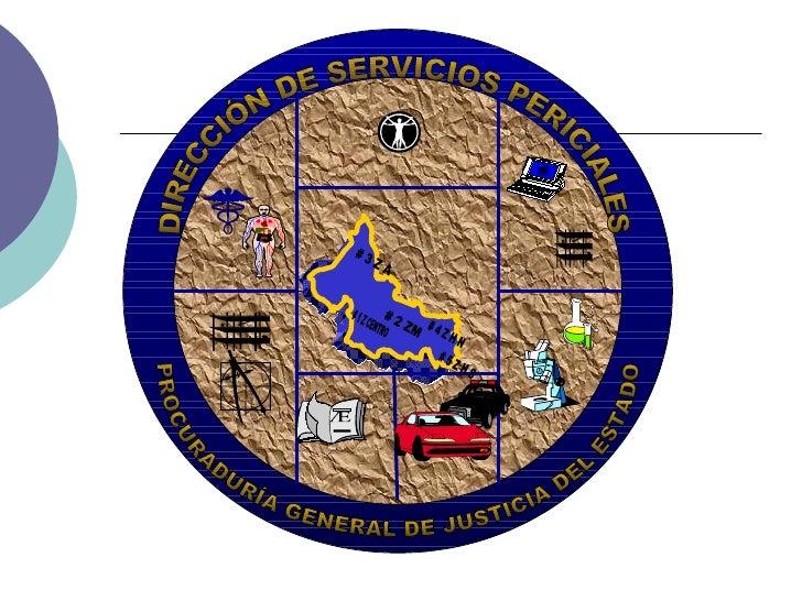 # 1 Z CENTRO DIRECCIÓN DE SERVICIOS PERICIALES PROCURADURÍA GENERAL DE JUSTICIA DEL ESTADO # 2 ZM # 4 Z H N # 3 Z A # 5 Z ...