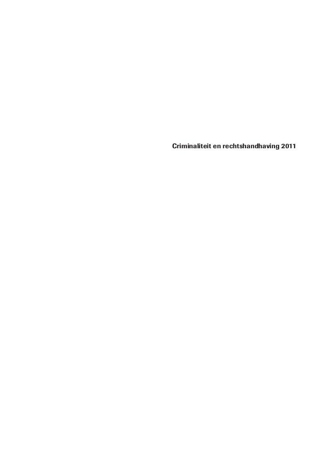 Criminaliteit en rechtshandhaving 2011