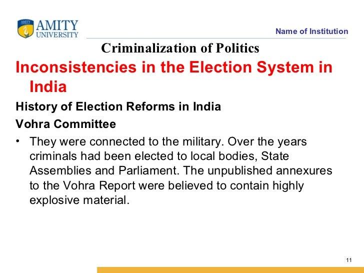 N N Vohra Committee Report Pdf