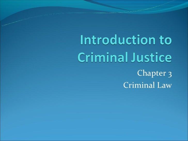 Chapter 3Criminal Law