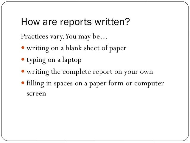 Write a report on street crimes
