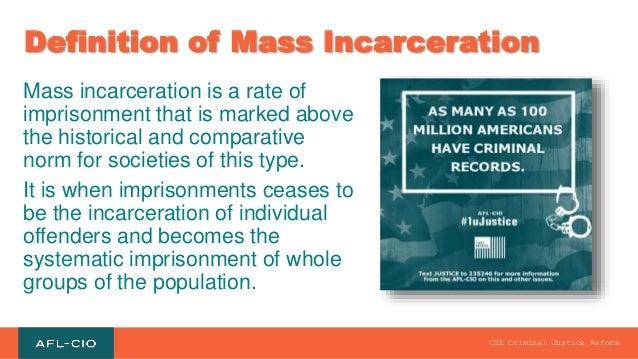 criminal justice reform 3 definition