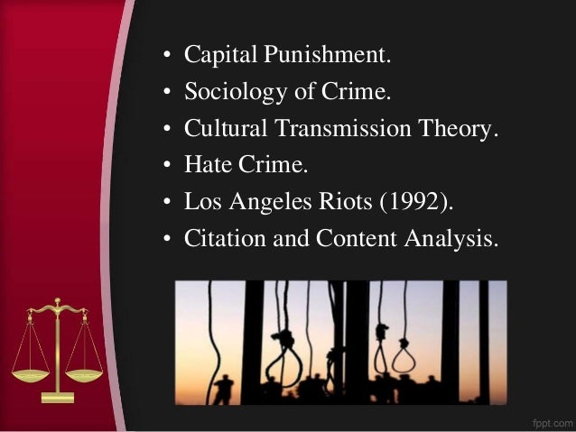 crime and punishment thesis papers