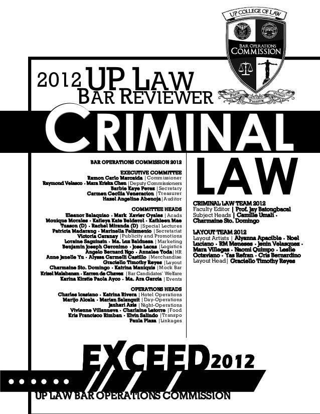Criminal law reviewer Slide 2