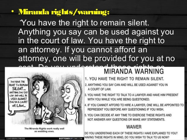 an analysis of a legal case citing the importance of the miranda rights In this case, the supreme court was asked to decide if the age of a juvenile being questioned by police should be taken into consideration when deciding if he or she is in police custody and, therefore, entitled to a miranda warning.