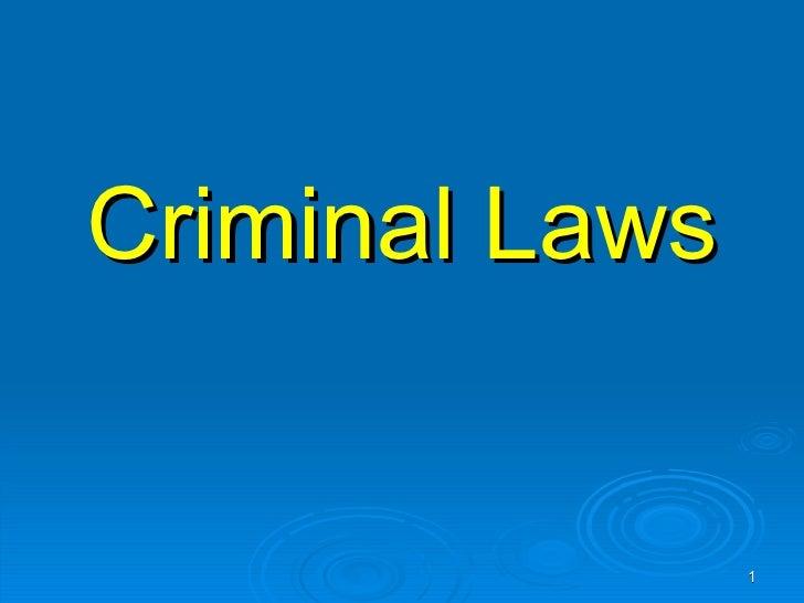 Criminal Laws