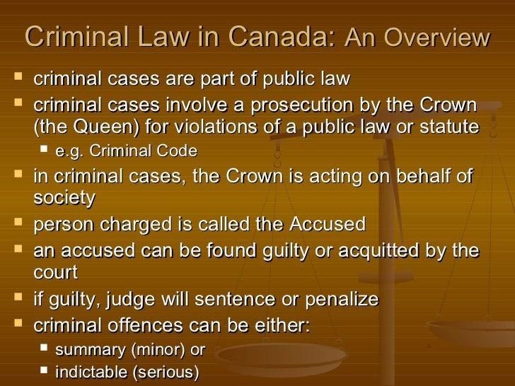 Canadian Criminal Law System