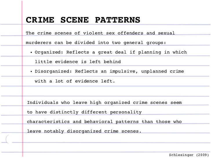 Profiling sexual offenders