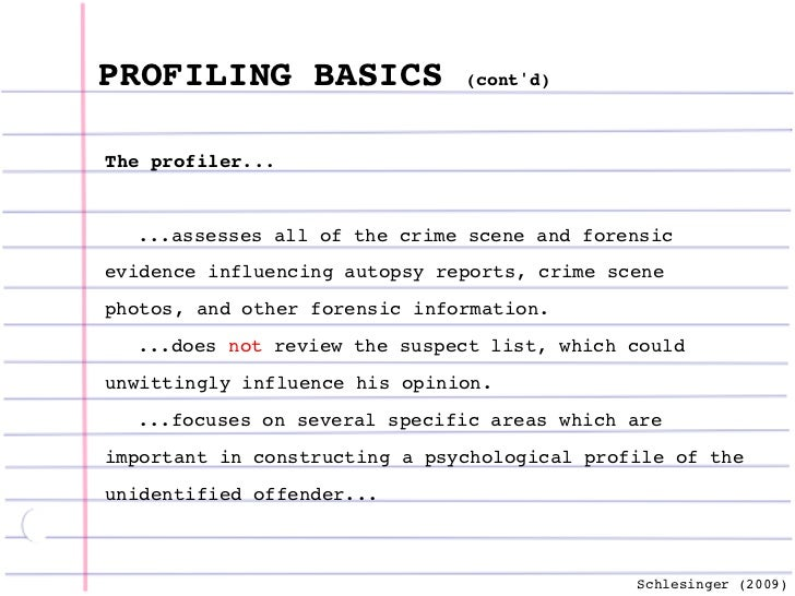 criminal profiling essays This essay has been submitted by a law student this is not an example of the work written by our professional essay writers offender profiling.
