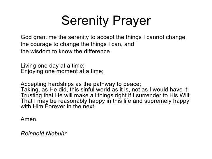 Serenity Prayer Worksheet Change - serenity prayer worksheet change ...