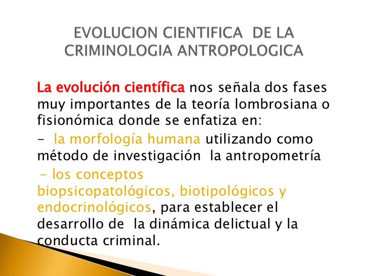Criminologia for Antropometria humana
