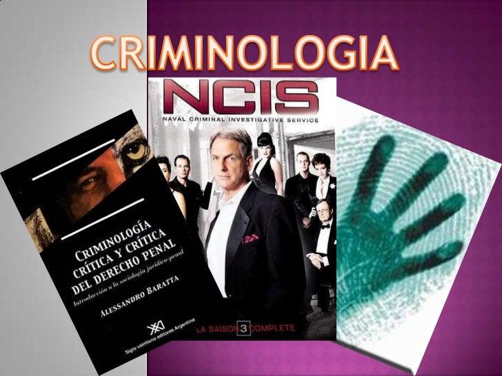 CRIMINOLOGIA<br />
