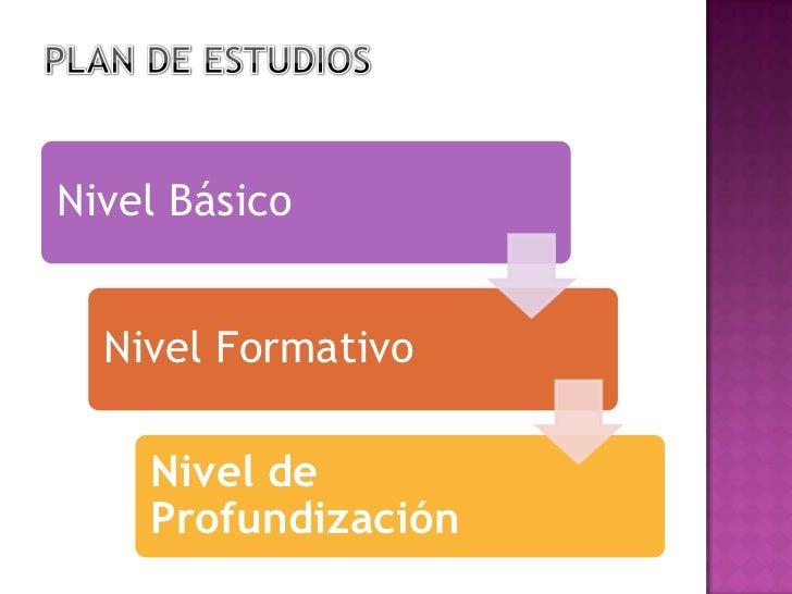 PLAN DE ESTUDIOS<br />