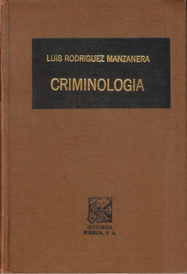 libro criminologia clinica luis rodriguez manzanera pdf