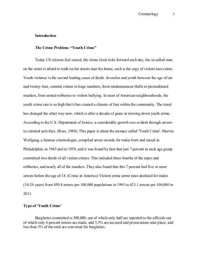 Criminology essay