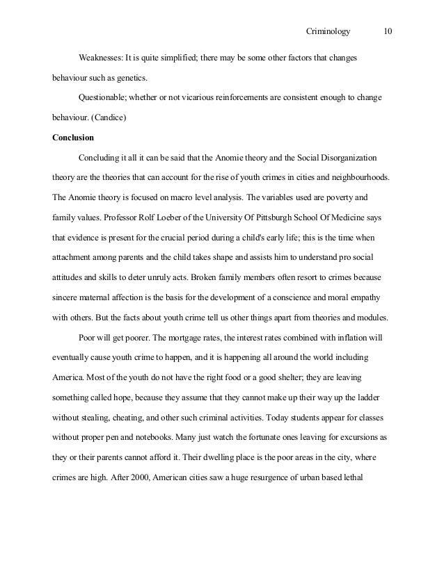 is criminal behavior biologically determined essay
